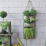 Hanging Bag Planter - Contemporary - Outdoor Pots And Planters - by ...