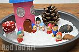 Winter Small World Play. The kids LOVED getting out their crafty bits ...