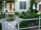 Front Garden Design Ideas: Front Garden Design Ideas With Wooden Fence ...