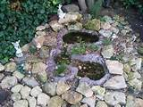fairy rockery with wildlife pond gardens ideas fairies rockery