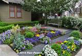 Drive-By Gardens: No-lawn flower garden at Houston Heights bungalow ...