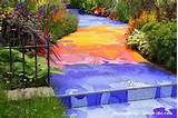 decorative tile garden path ideas casas arte materiales alternativo
