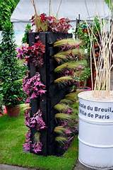 vertical black pallet garden creative diy upcycled ideas lawn backyard