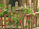 Rustic cottage fence. | Flower garden ideas | Pinterest