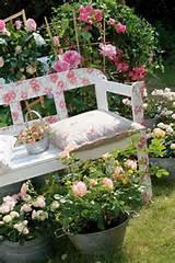 garden decorating ideas diy decoupage technique garden bench