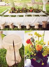 Elegant Secret Garden First Birthday: Kids table with hand-carved ...