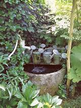 Corner fountain? | Best Ever Garden Ideas | Pinterest