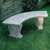 stone garden bench home design ideas