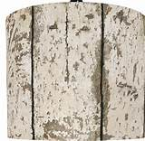 illumalite designs weathered wood drum lamp shade ebay