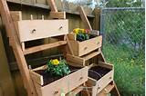 Vertical Garden Using Old Dresser Drawers