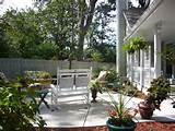Patio off front porch | Landscaping & Gardening Ideas | Pinterest