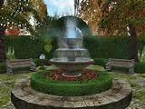 outdoor fountain plans english garden fountain ideas