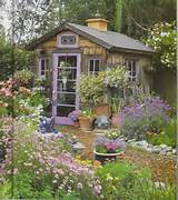 Purple Garden Shed-Country Gardens Spring 2009