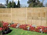 Red, Simple Garden Fence Ideas Modern Garden Fence Ideas. Garden Fence ...