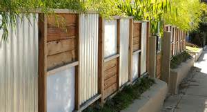 corrugated panel wall the fence constructed in 6 x6 modules