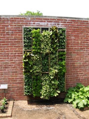 One of many innovative vertical gardening ideas
