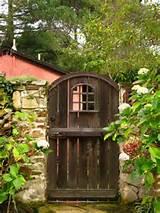 Rustic garden gateGardens Ideas, Fence, Rustic Gardens, Carmel ...