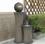... Floating Sphere Waterfall Fountain | Outdoor Water Fountains | Pi