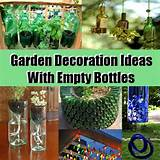 easy and beautiful garden decoration ideas with empty bottles diy