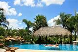 residential pool landscaping and palapa tropical pool other