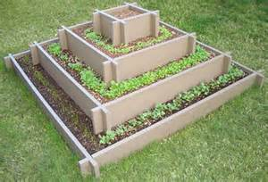 This Four Level Pyramid Raised Garden Bed would rock for herbs, or ...