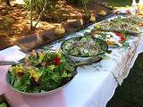 lunch was put together with a spread of salads perfect for a hot day