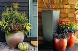 fall halloween planters for your front door