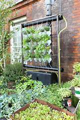 This garden featured a vertical hydroponic system made with old ...