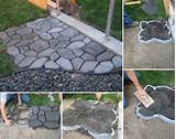 diy home project cement cobblestone path find fun art projects to