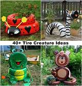 40 ideas to craft recycled tire creatures for your garden