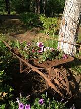 Fun idea for old wheelbarrow | garden ideas | Pinterest