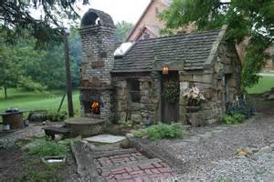 Indoor-outdoor fireplace, patio, and garden shed. Re-purposed barn ...
