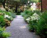 beautiful garden path design ideas gravel blooming flowers border