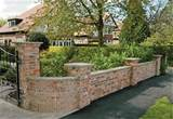 brick wall garden garden idea