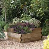 Forest Garden Tiered Caledonian Wooden Raised Planter - Wooden Garden ...