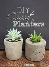 diy ideas diy cement planters and garden globes