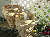 pot fountains are an inexpensive way to spruce up your outdoor space