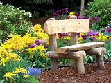 Flower Garden....Neat bench! | I love LANDSCAPE IDEAS | Pinterest