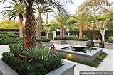 Formal meets tropical in this landscape design from Franklin Landscape ...