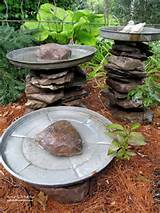 diy project stacked stone bird baths our fairfield home garden