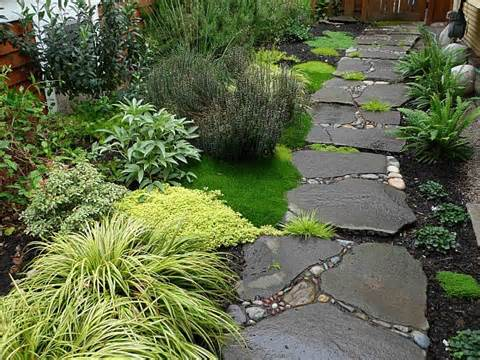 garden stone walkway with plants how to build a stone pathway