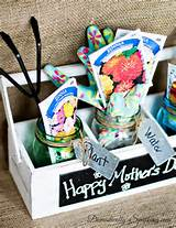 Mother's Day Gardening Gift with Mason Jars by Domestically Speaking