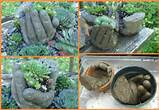make diy hypertufa concrete hand garden planters how to instructions