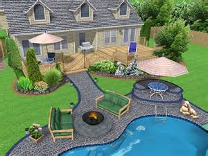 Pool & Backyard: Amazing Easy Backyard Ideas Pool Landscaping Modern ...