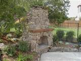 rustic outdoor stone fireplace designs