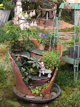 And I love these broken pot fairy gardens. Now if one of my old pots ...