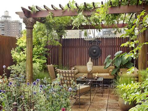 eastern style rooftop terrace garden of a new york duplex digsdigs