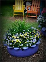 Tire planter | Outdoor/Garden ideas | Pinterest