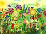 garden play time wall art wall sticker outlet