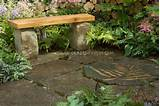 and stone patio combination wooden and stone garden bench on stone